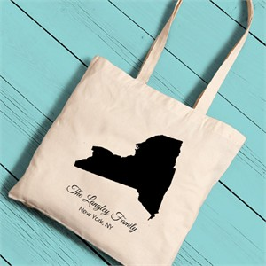Personalized State Canvas Tote