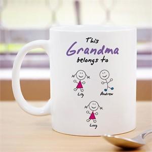 Personalized This Grandma Belongs to Mug