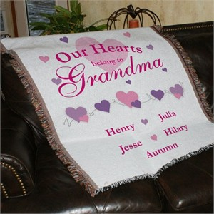 Personalized Throw for Grandma