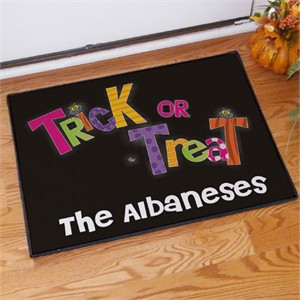 Personalized Trick or Treat Doormat - Small