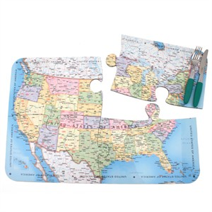 USA Map Jigsaw Placements
