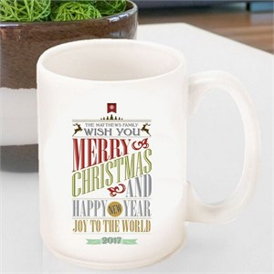 Personalized Vintage Holiday Coffee Mug