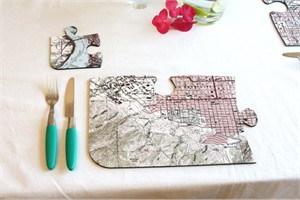 Personalized Vintage Map Jigsaw Placements