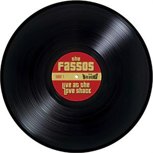Personalized Vinyl Record Door Mat