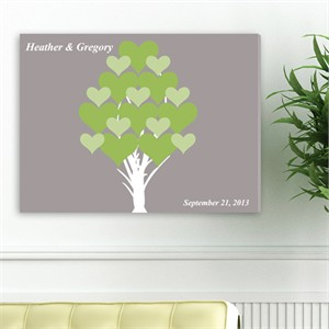 Personalized Wall Art - Blooming Hearts