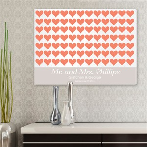 Personalized Wall Art - For the Love of Hearts