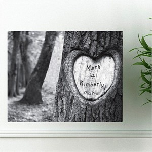 Personalized Wall Art - Tree of Love Canvas Print
