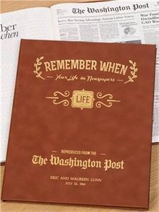 Personalized Washington Post Remember When Book