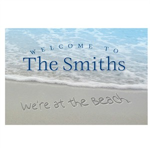 Personalized We're at the Beach Door Mat