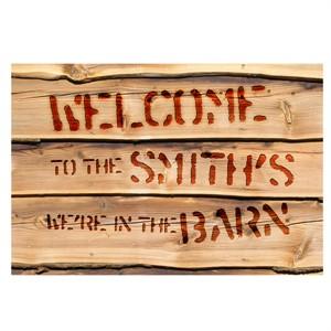 Personalized We're in the Barn Door Mat