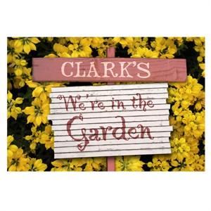 Personalized We're in the Garden Door Mat