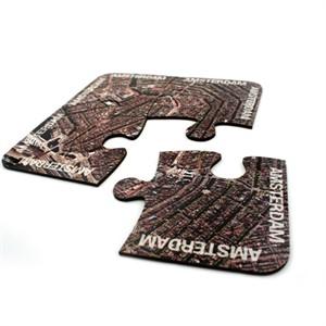 World City Map Jigsaw Coasters