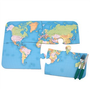 World Map Jigsaw Placements