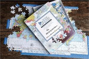 Personalized World Map Jigsaw Puzzle