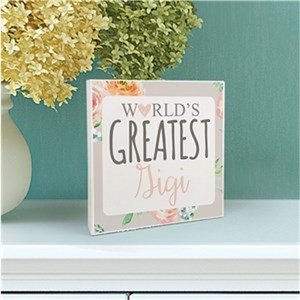 Personalized World's Greatest 6x6 Table Top Sign