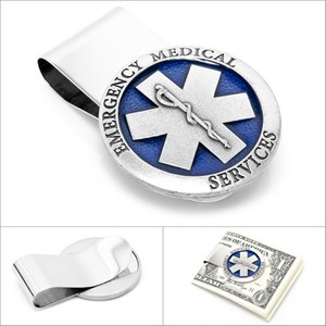 Pewter Emergency Medical Services EMS Money Clip