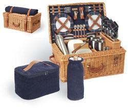 Picnic Time Windsor English Style Suitcase Basket Set