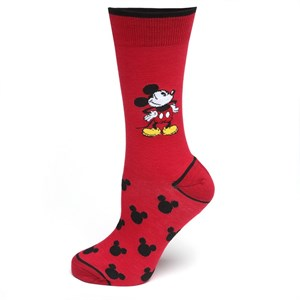 Pie-Eyed Mickey Mouse Red Socks