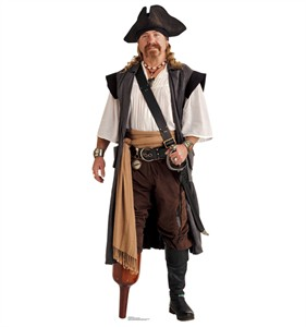 Pirate Peg Leg Cardboard Cutout
