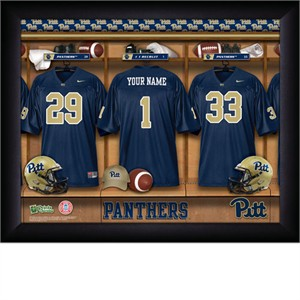 Personalized Pittsburgh Panthers College Football Locker Room Print