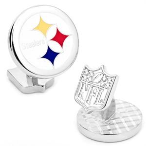 Pittsburgh Steelers Cufflinks - Palladium