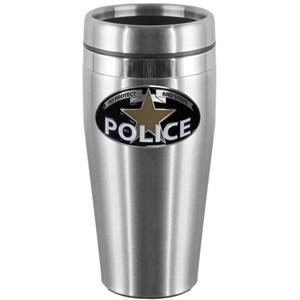 Police Steel Travel Mug