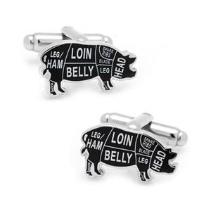 Pork Butcher Cuts Cufflinks