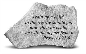 Proverbs, train a child Engraved Stone