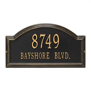 Personalized Providence Arch Address Plaque - 2 Line
