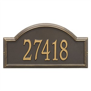 Personalized Providence Arch Large Address Plaque - 1 Line