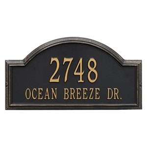 Personalized Providence Arch Large Address Plaque - 2 Line