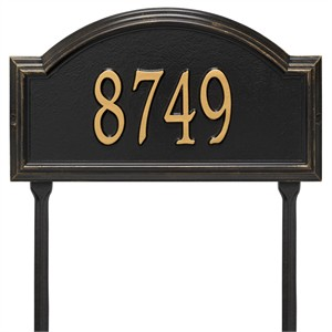 Personalized Providence Arch Lawn Address Plaque - 1 Line