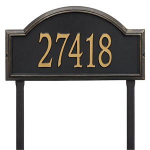 Personalized Providence Large Lawn Address Plaque - 1 Line