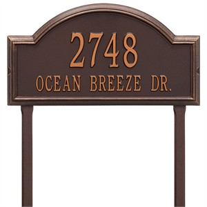 Personalized Providence Large Lawn Address Plaque - 2 Line