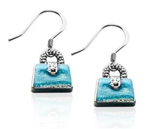 Purse Charm Earrings in Silver