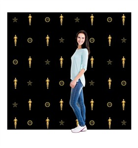 Red Carpet Step and Repeat Backdrop DW Cardboard Cutout