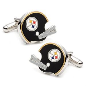 Retro Pittsburgh Steelers Helmet Cufflinks