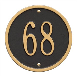 """Personalized Round Home Address Plaque - 6"""""""