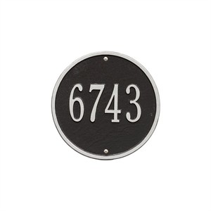 Personalized Round Home Address Plaque - 9""