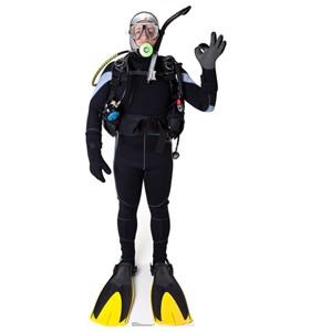 Scuba Diver Cardboard Cutout