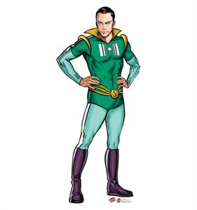Sheldon Super Hero Big Bang Theory Cardboard Cutout