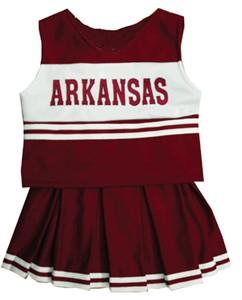 Arkansas University Child Cheerleader Uniform