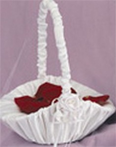 Satin Rose Collection Flower Girl Basket