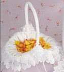 Chiffon Collection Flower Girl Basket