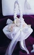 Satin & Organza Bow Collection Flower Girl Basket