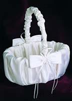 Satin Daisy Collection Flower Girl Basket