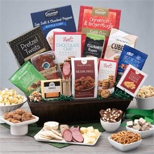Snack & Chocolate Gift Basket - Deluxe