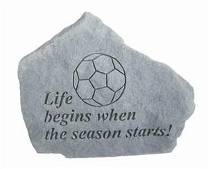 Soccer Season Engraved Stone