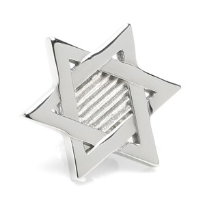 Star of David Stainless Steel Lapel Pin