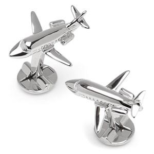 Sterling Private Jet Cufflinks